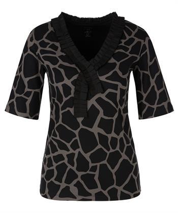 Marc Cain giraffe print shirt