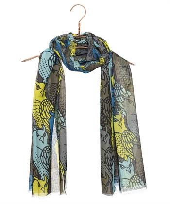 Marc Cain shawl uilenprint