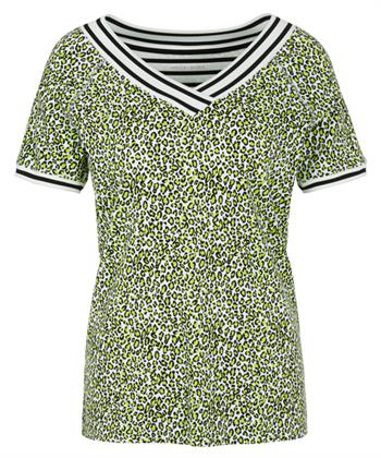 Marc Cain shirt dierprint lime