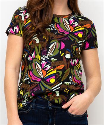 Marc Cain shirt kleurrijke jungleprint