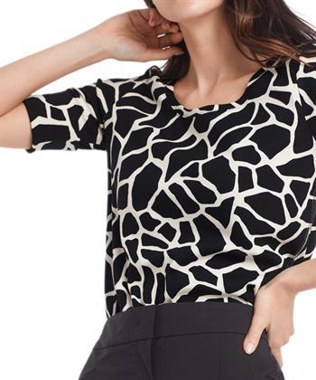 Marc Cain shirt ribjersey giraffe print