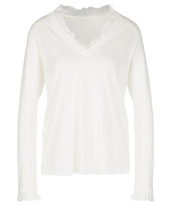 Marc Cain shirt V-hals ruches