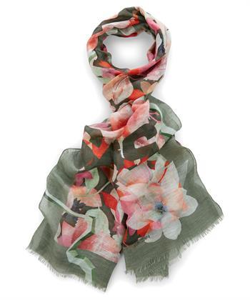 Marc Cain sjaal bloemprint