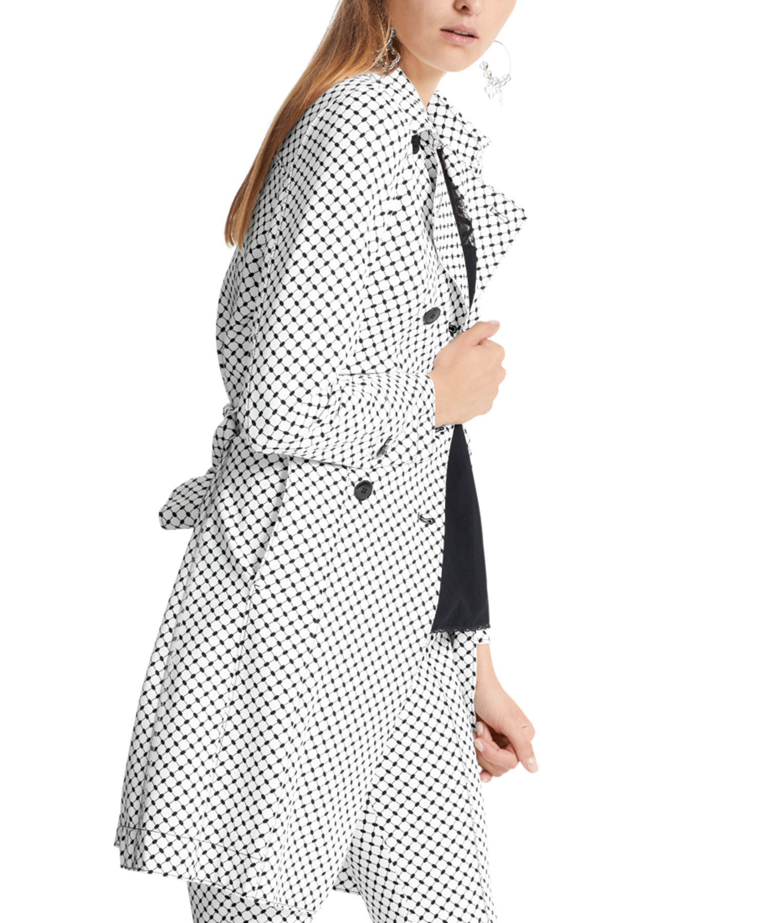 Marc Cain trenchcoat graphic