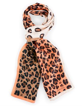 Marc Cain zijden shawl met dierprint