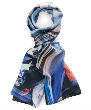 Marc Cain zijden sjaal bloemenprint