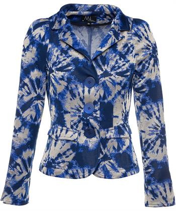 ML Collections batik blauwe blazer