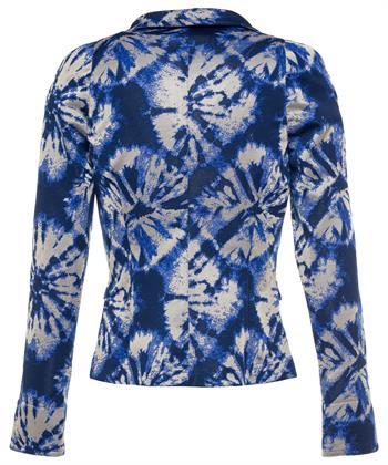 ML Collections batik blauwe blazer