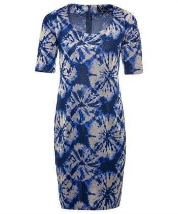 ML Collections batik blauwe jurk