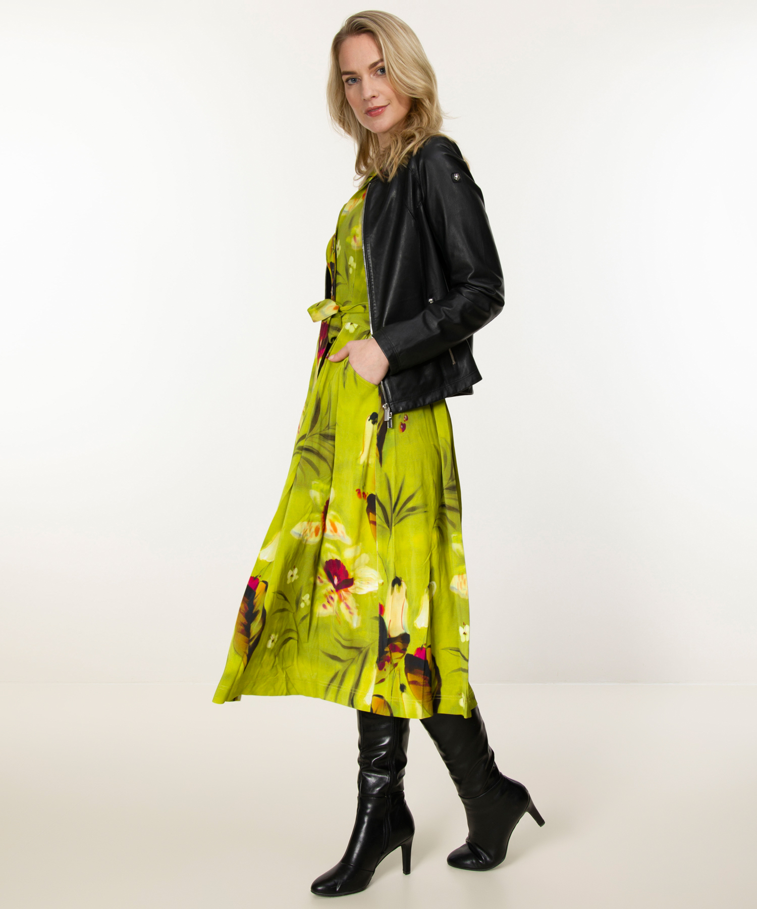 ML Collections lange jurk bloemenprint