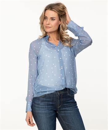 Nadine H. blouse met stippen