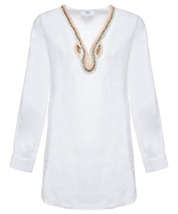 Nadine H. Ibiza linnen blouse