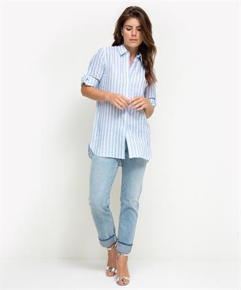 Nadine H. linnen blouse met strepen