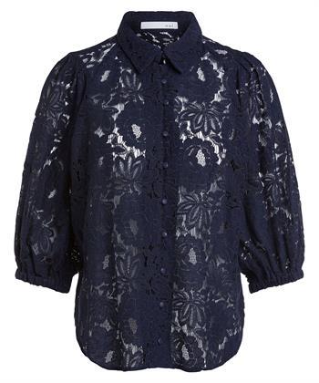 Oui blouse kant