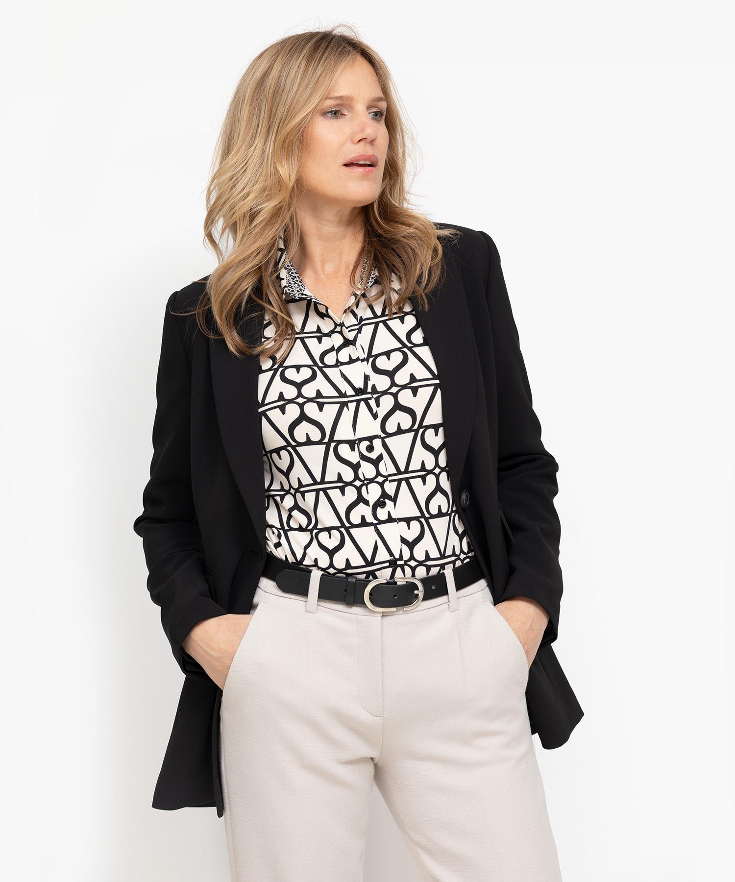 Oui blouse met print