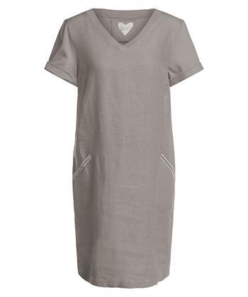 Oui linnen jurk met strass