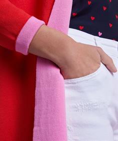 Oui openvallend vest met cashmere