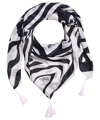 Oui shawl zebra met kwastjes