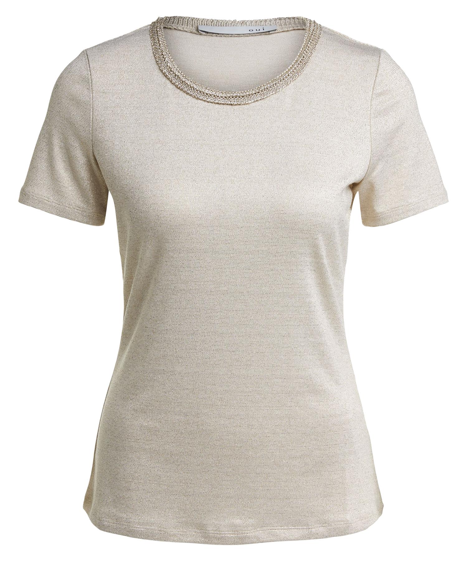 Oui shirt met goudlurex