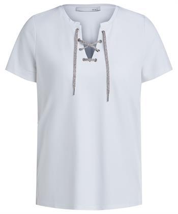 Oui shirt met veterkoord