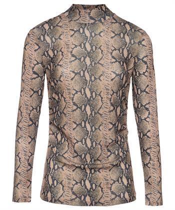 Oui snakeprint colshirt