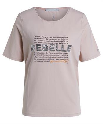 Oui t-shirt tekstopdruk