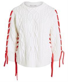 Oui trui met rood striklint