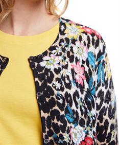 Oui vest dierprint/bloemen