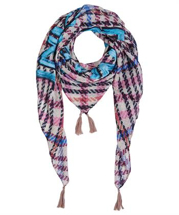 Oui vierkante shawl ruitprint