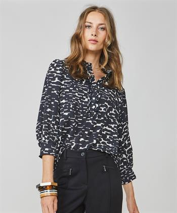 Summum blouse met zwart-wit print