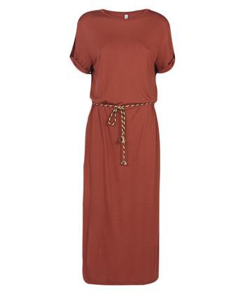 Summum lange jurk met strikceintuur