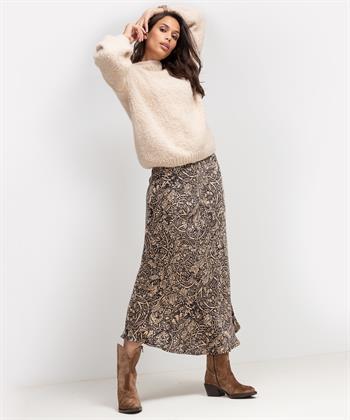 Summum lange rok met bloemprint