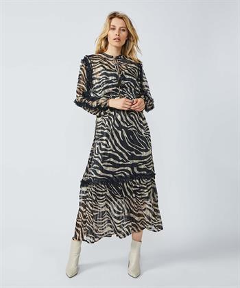 Summum maxi jurk met zebraprint