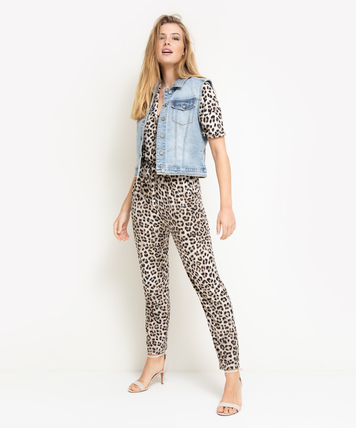 Summum mouwloos jeansjack