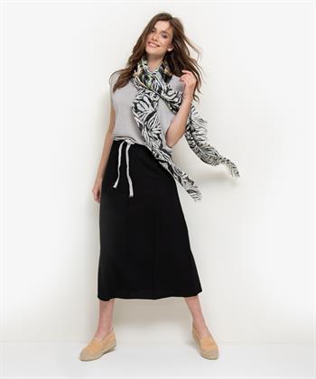 Summum shawl dierprint met bloemen