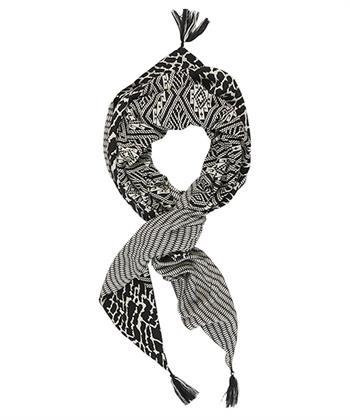 Summum sjaal met zwart-wit print