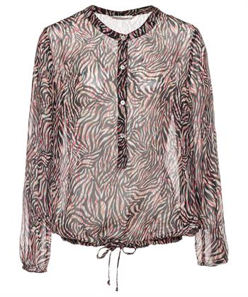 Summum transparante blouse zebraprint