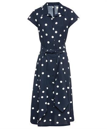 Trvl Drss blauwe dots polo jurk